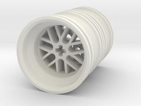 Wheel Design III Double in White Natural Versatile Plastic