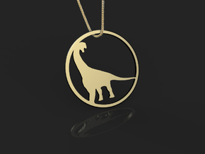 Camarasaurus necklace Pendant in 14k Gold Plated Brass