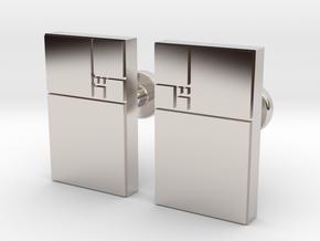 Fibonacci Cufflinks in Platinum