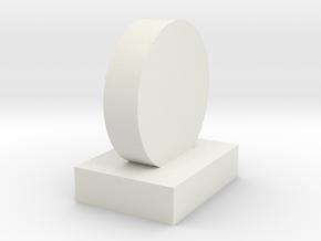 1:24 Scale 8in Knockover Popper Target in White Natural Versatile Plastic