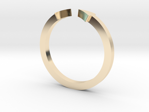 Double Triangle Mid Finger Ring in 14K Gold