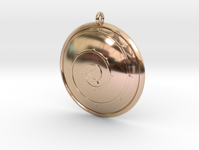 Steven Universe 'Rose's Shield' Necklace in 14k Rose Gold Plated Brass