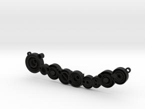Don't blink - Necklace pendant in Black Natural Versatile Plastic