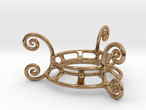 Ornament Egg Stand in Polished Brass