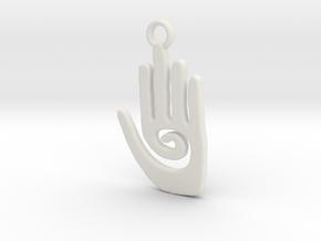 Healing Hand in White Natural Versatile Plastic