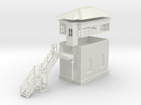 LB71 - Leek Brook Junction signalbox 7MM in White Natural Versatile Plastic