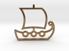 Ship No.1 in Rhodium Plated Brass