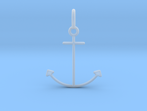 Anchor Pendant in Smooth Fine Detail Plastic