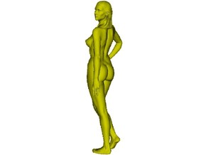 1/24 scale nude beach girl posing figure A in Smooth Fine Detail Plastic