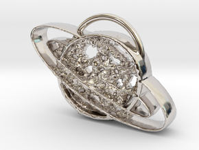messy planet in Rhodium Plated Brass