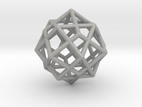 0492 Cuboctahedron + Dual in Aluminum