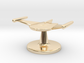 Game piece Romulan Bird-of-Prey in 14k Gold Plated Brass
