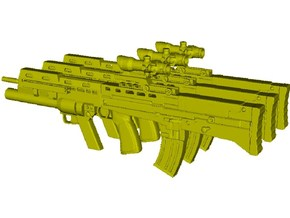 1/15 scale BAE Systems L-85A2 rifles x 3 in Smooth Fine Detail Plastic