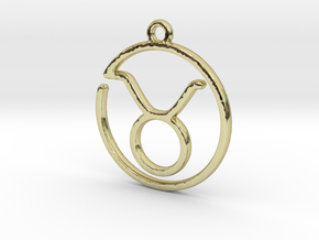 Taurus Zodiac Pendant in 18k Gold Plated Brass