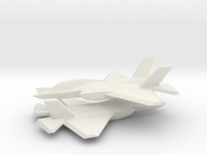 1/350 F-35D Lightning II (x2) in White Natural Versatile Plastic