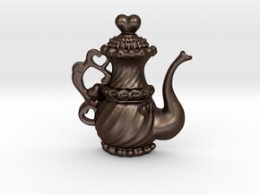 TeaPot 09 00 2016 in Matte Bronze Steel