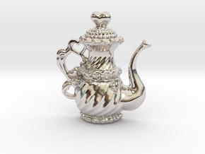 TeaPot 09 00 2016 in Rhodium Plated Brass
