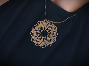 Faris Pendant  - Geometric star design in Natural Bronze