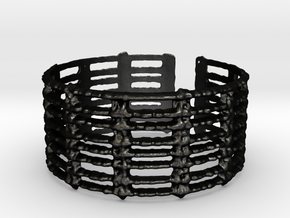 unraveled bracelet in Matte Black Steel