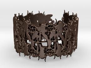 entomology bracelet in Matte Bronze Steel