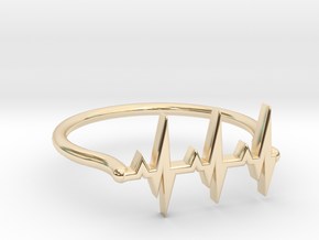 Vital ring in 14k Gold Plated Brass