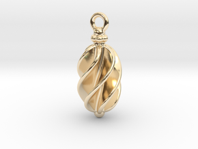 Earring Long Twisted in 14K Yellow Gold
