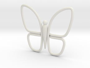 Eternal Butterfly 1 in White Natural Versatile Plastic