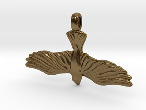 DOVE Symbol Jewelry Pendant in Polished Bronze