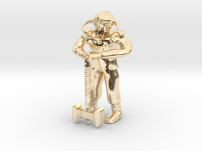 Dwarf1 in 14k Gold Plated Brass