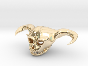 Demon Skull in 14K Yellow Gold