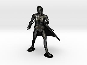Drow Assassin in Matte Black Steel