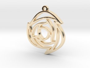 Rose Pendant B in 14k Gold Plated Brass
