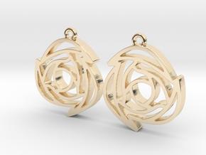 Rose B Earrings in 14k Gold Plated Brass