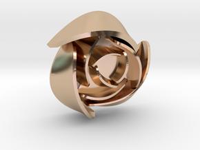 50mm Rose No Hoop in 14k Rose Gold Plated Brass