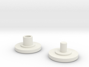 Button for 8x22x7mm Bearings in White Natural Versatile Plastic