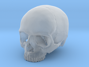 Skull    30mm width in Smooth Fine Detail Plastic
