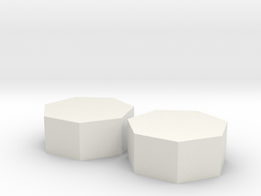 Two small heptagons in White Natural Versatile Plastic