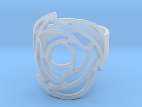 Rose Ring US 11 in Smooth Fine Detail Plastic