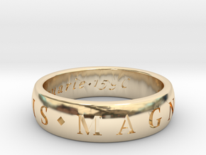 Size 10 Sir Francis Drake, Sic Parvis Magna Ring  in 14K Yellow Gold