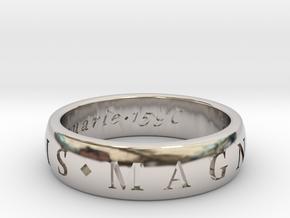 Size 10 Sir Francis Drake, Sic Parvis Magna Ring  in Platinum