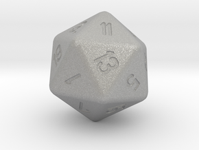 Jumbo 20 Sided Die in Aluminum