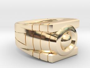 Size 9 Green Lantern Ring in 14K Yellow Gold