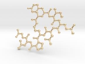 Oxytocin (2D model) in 14K Yellow Gold