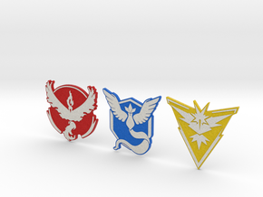 Pokemon Go - All Team Badges 1 in Full Color Sandstone