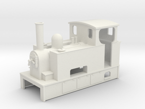 009 Steam tram loco with bunker 3 in White Strong & Flexible
