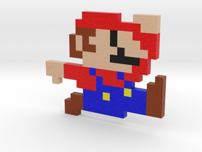 Pixel Mario in Full Color Sandstone