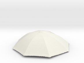 1/6 Real Umbrella Top (Customization Available)  in White Strong & Flexible