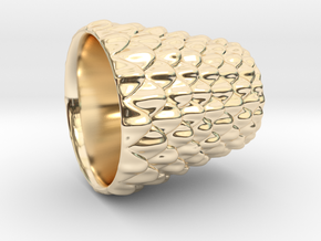 Dragon Scale Shot Glass in 14K Yellow Gold