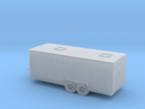 1/120 22 Foot Inclosed Trailer in Smooth Fine Detail Plastic