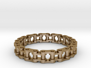 Bike Chain Ring 26mm in Polished Gold Steel